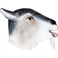 Realistic Billy Goat Mask: Full Face Rubber Latex Costume Mask