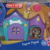 Littlest Pet Shop Puppies Playset w/3 pets & Purple House