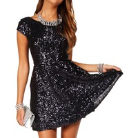 Jazzy-Navy Homecoming Dress