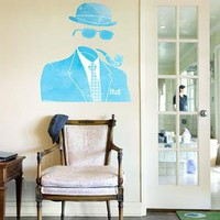 The Invisible Gentleman wall decal from Threadless by Blik
