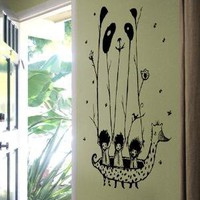 Fake Pandas Have More Fun wall decal from Threadless by Blik