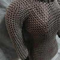Custom Fitted Chainmaille Shirt- Women's Chainmaille Shirt- LARP Clothing- Sexy Fitted- Geekery- Medievel Renaissance- Metal Chain Mail