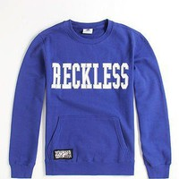 Young  Reckless Reckless College Crew Pullover Sweatshirt