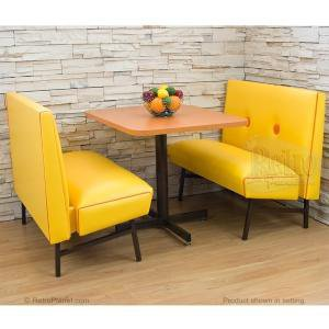 Booth set orange kitchen dining seating from - Kitchen booths for sale ...