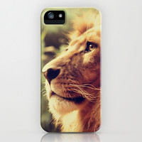 Lion iPhone & iPod Case by Jazza Vock