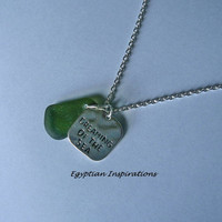 Beach glass necklace. Seaglass jewelry.