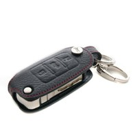 Genuine Leather Key Cover Case Bag Keyless for VW volkswagen Skod VW Jetta VW New Beetle VW Golf4 VW Golf5 VW Golf6 VW Tiguan VW Bora VW Caddy VW Touran VW Touareg VW Scirocco VW GTI VW Polo VW Passat B5 Skoda Fabia Skoda Octavia Skoda Octavia RS Skoda Sup