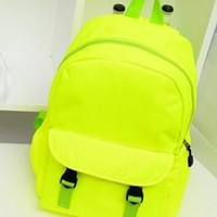 Fluorescence Color Backpack for Women from topsales