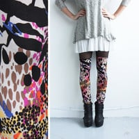 Leggings - Faux Thigh High - Rainbow Leopard Jersey - XS, S, M, L