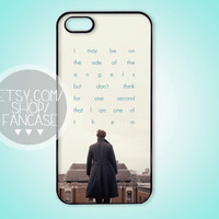 BBC Sherlock Quote Benedict Cumberbatch iPhone 4 4s 5 Case Typography iPhone or Samsung Galaxy S3