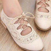 New Fashion  Leather Hollow Out With Lace Shoes from styleonline