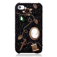 Generic Handmade Vintage Style DIY Phone Case For iPhone 5- Nymphish Memory Color Black