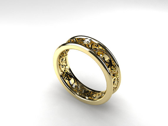 Yellow Gold Engagement Rings Yellow Gold Engagement Rings Filigree