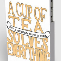 A Cup Of Tea Solves Everything - iPhone Case.