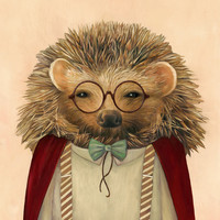 Harry Hedgehog Art Print by Animal Crew