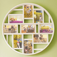 Round Here Photo Frame in White