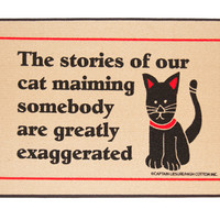 CAT MAIMING DOORMAT