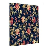 Elegant VIntage Floral Rose Binder from Zazzle.com