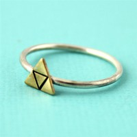 Zelda Triforce Stacking Ring - Spiffing Jewelry