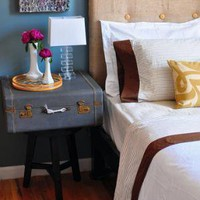 Blue Luggage NIghtstand