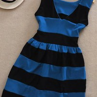 A 080215 Sweet wind hit the color stripe skirt from cassie2013