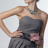 Stunning cocktail bridesmaid dress in grey by fioridiarancio