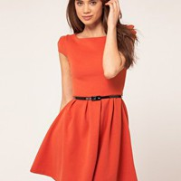 Lipsy | Lipsy Dress With Cut Out Back at ASOS
