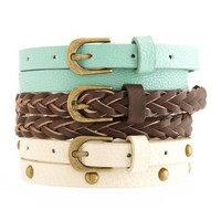 Solid, Stud & Braided Belts: Charlotte Russe