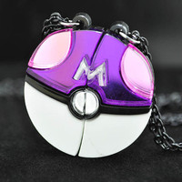 Pokemon Masterball Friendship Lovers Necklace Cosplay Pendant Pokeball