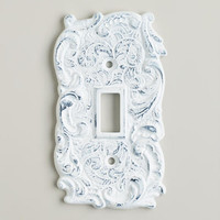 Single White Cast Iron Switch Plate | World Market