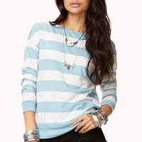 Heathered Stripe Top | FOREVER 21 - 2075073857