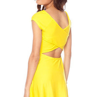 Over and Under Dress in Chartreuse :: tobi