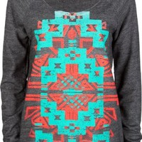 FULL TILT Ethnic Print Womens Oversized Sweatshirt:Amazon:Clothing