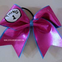 Thingy 1 PINK Large Cheer Bow Hair Bow Cheerleading