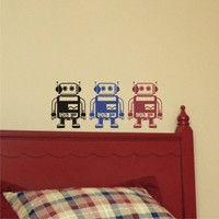 Robby the Robot Set of 3  - Vinyl Wall Art Decals stickers