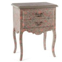 Boutis Nightstand, Boutis Taupe - French Country - Pierre Deux