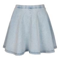 Petite Denim Look Skater Skirt - New In This Week - New In - Topshop USA