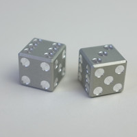 Machined Aluminum Dice - Cool Material