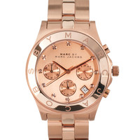 Marc By Marc Jacobs | Marc By Marc Jacobs Rose Gold Chronograph Watch With Crystal Detail at ASOS