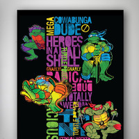 Teenage Mutant Ninja Turtles Neon Fleece Blanket