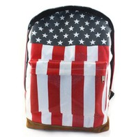 New Women Canvas USA Flag Punk Back Pack Duffle School:Amazon:Everything Else