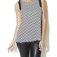 Chevron Printed Tunic | Shop Tops at Arden B