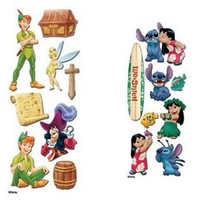 EK Success Disney Touch Of Jolee's  Dimensional Sticker set of 2 Peter Pan - Lilo & Stitch