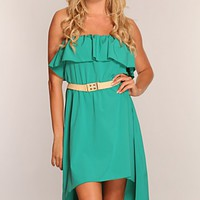 Green High Low Hem Dress