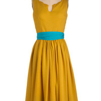 Effortless Allure Dress in Gold | Mod Retro Vintage Dresses | ModCloth.com
