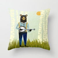 Bear's Bourree Throw Pillow by Andrea Lauren