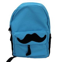 Fashion Cute Mustache Canvas Campus Bag Laptop Book Bags School Backpack 7 Colors