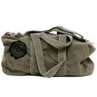Duffle Bag: Tree Rings - Canvas Travel Bag for Men & Women