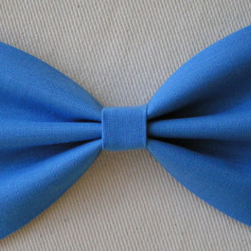 Blue color Hair Bow,Fabric Hair Bow,Fabric Bow, Bows for Kids, Hair bows