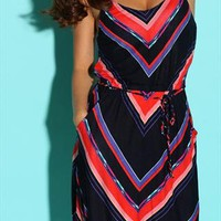 Womens Geometric Striped Cami Dress from SarahHunt